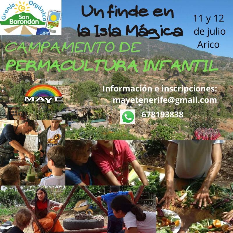 campamento permacultural infantil Tenerife San Borondon