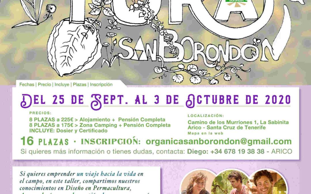TALLER DE INTRODUCCIÓN A LA AGRO-CULTURA 25 Sep – 3 Oct